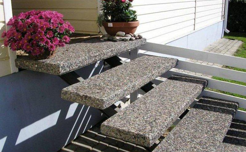 Где применяется мытый бетон
