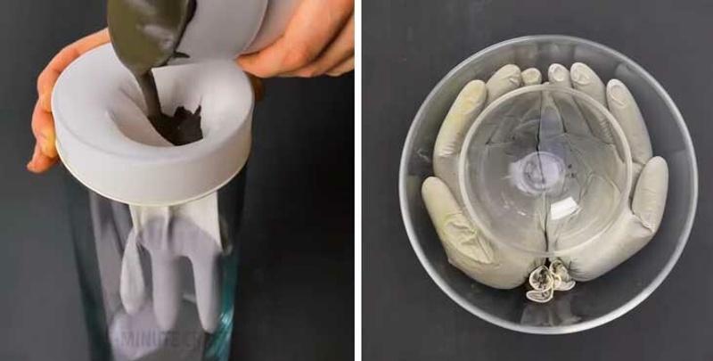 Как сделать ладошки из цемента