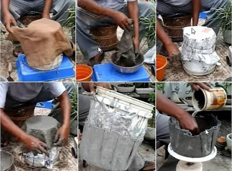 Пошаговое изготовление вазона