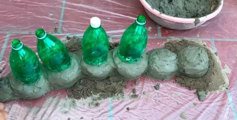 Облепливаем снаружи цементом