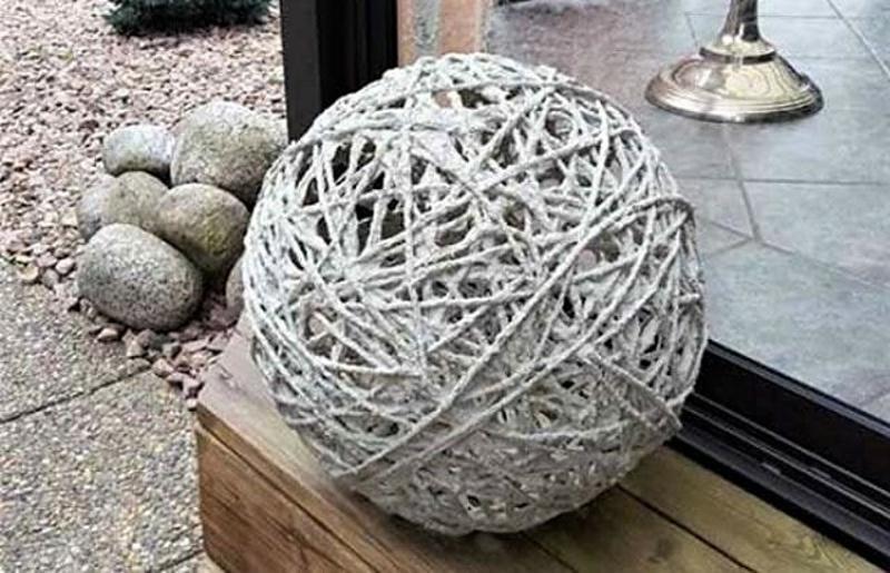 Шарик из цементных нитей