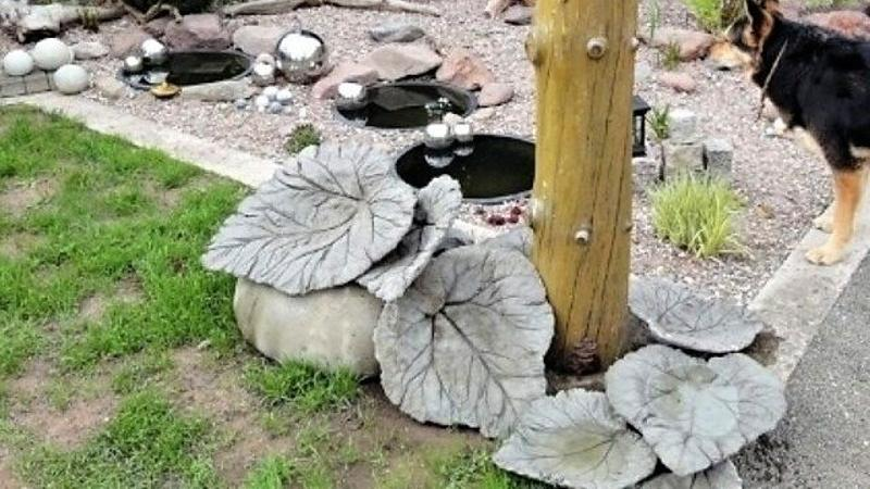 Листья из цемента