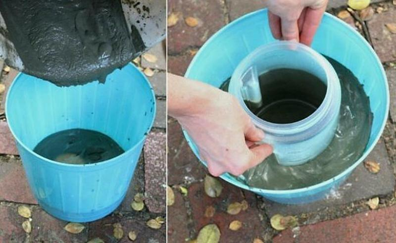 Изготовление вазона из цемента