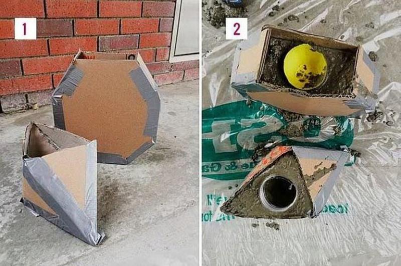 Форма из картона для вазона