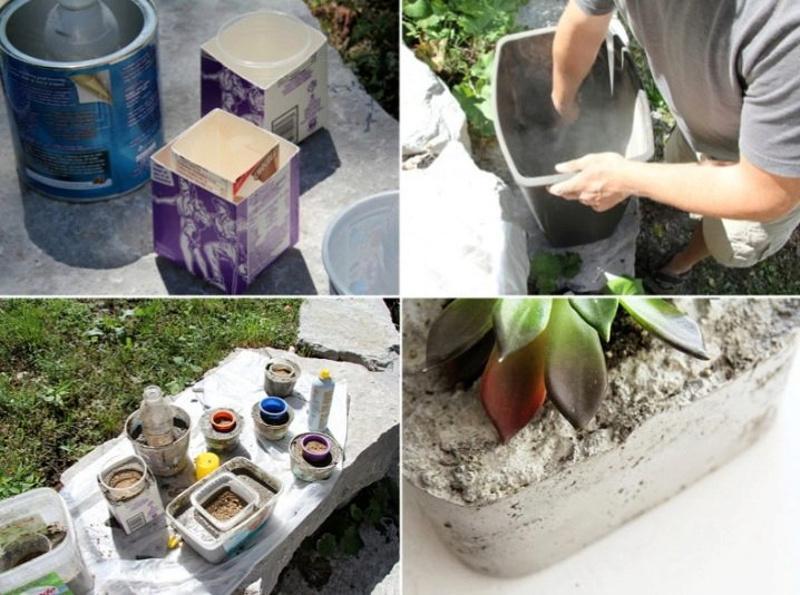Инструкция по изготовлению вазона из бетона