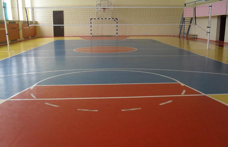 Спортивная площадка с резиновой краской