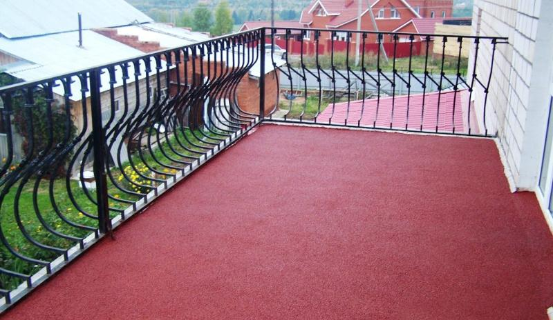 Резиновая краска на открытых балконах
