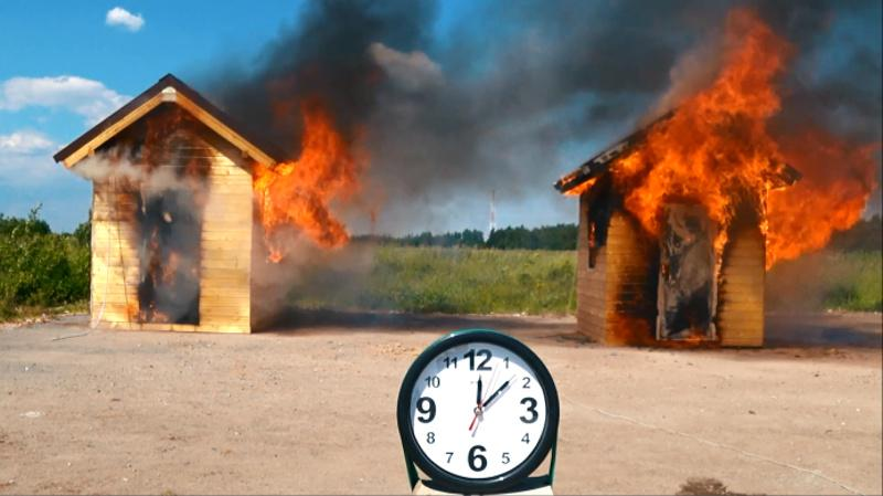 Моделирование пожара в каркасных домах