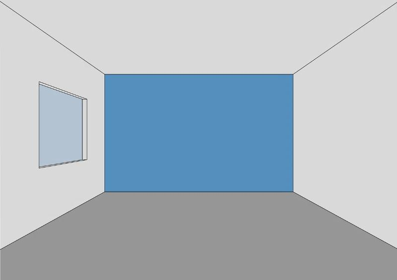 Нарисуем спальню 3 на 4 метра
