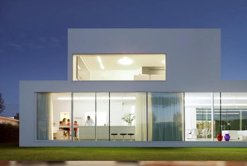 Фасад в стиле минимализма