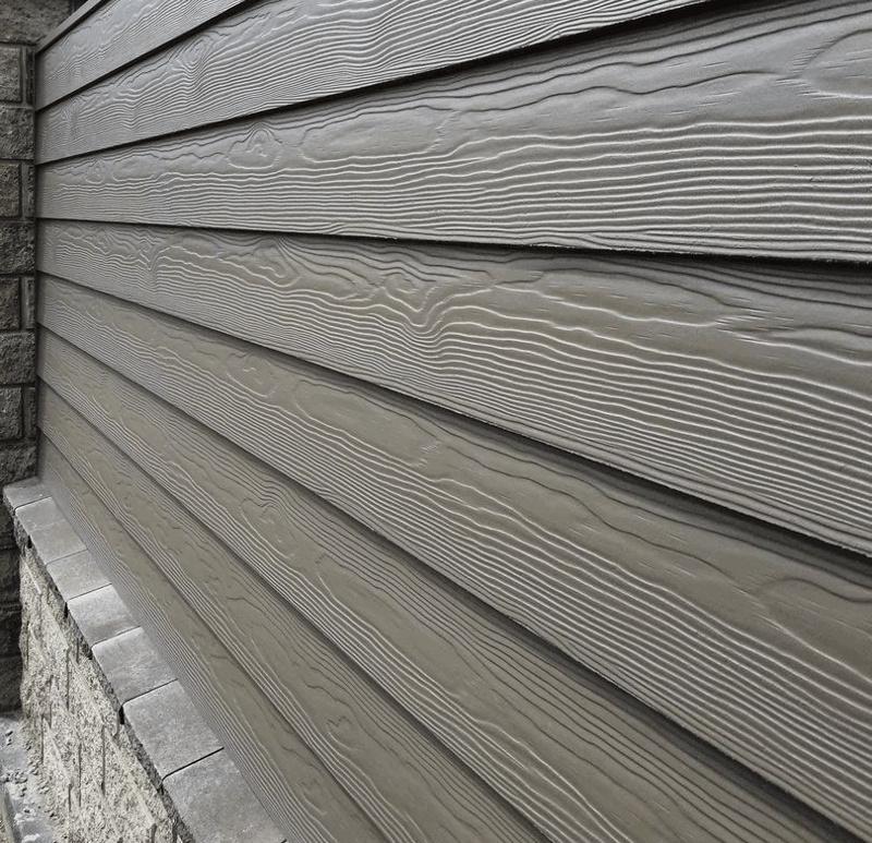 Фиброцементная панель с эффектом сайдинга на фасаде - внахлест
