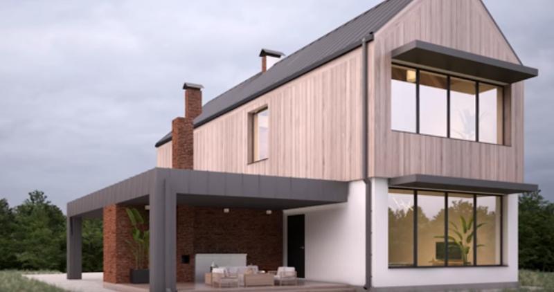 Древесина в отделке фасада дома