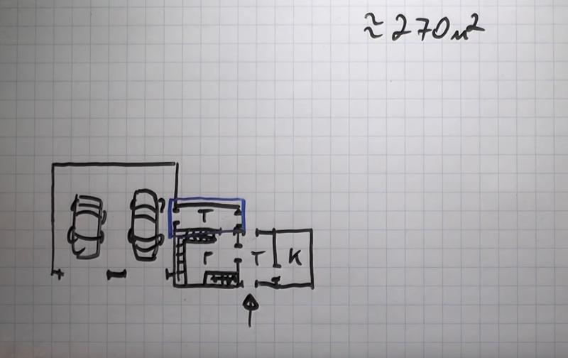 Планировка тамбура из гаража