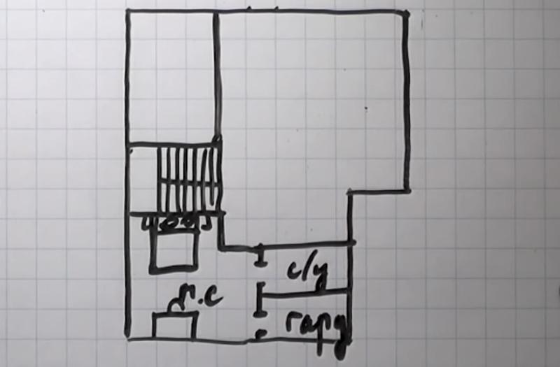 Рисуем план второго этажа
