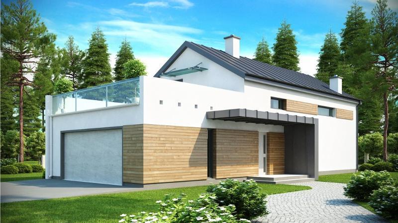 Гараж с плоской эксплуатируемой крышей