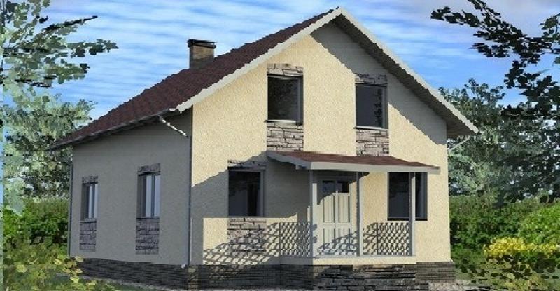 Проект дома на 122,3 кв метров с мансардой