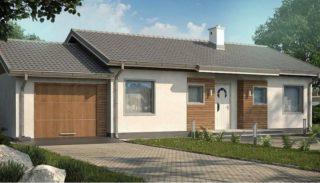 Проект дома на 126,6 кв метров с пристроенным гаражом