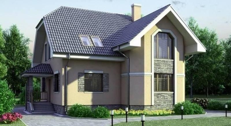 Проект дома на 206 кв метров с гаражом и мансардой