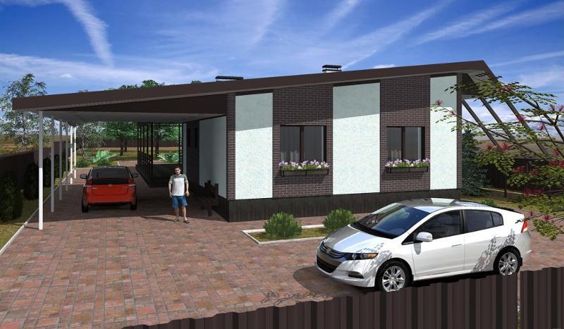 Проект дома с террасой на 125,3 кв метров в современном стиле