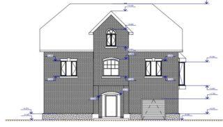 Проект двухэтажного дома 250 м2 с мансардой и цокольным этажом