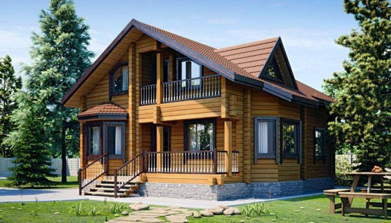 """Проект двухэтажного дома """"Метрополь"""" на 155,67 м2 с мансардой и террасой"""