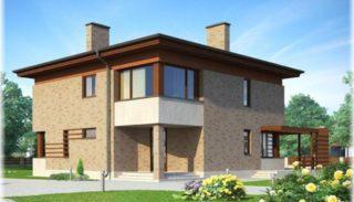 Проект двухэтажного дома на 235 кв метров с террасой