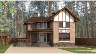 Проект двухэтажного дома на 310 кв метров с цокольным этажом