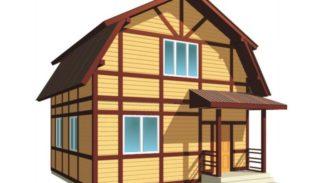 Проект двухэтажного дома на 91,3 м2 с мансардой