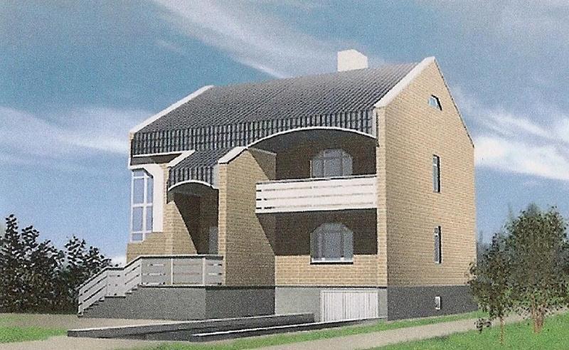 Проект двухэтажного коттеджа на 255 кв метров с цокольным этажом