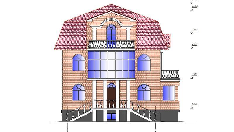 Проект двухэтажного коттеджа на 432 кв метров с мансардой