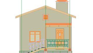 Проект простого одноэтажного дома 47,9 м2