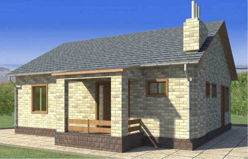 Проект простого одноэтажного дома 79,42 м2