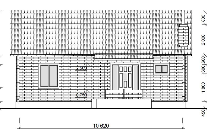 Проект простого одноэтажного дома 79,5 м2