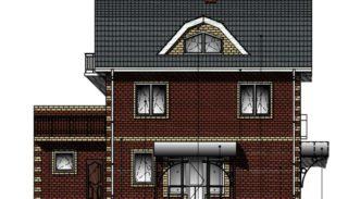 Проект трехэтажного коттеджа на 226,8 м2 с гаражом на 3 автомобиля и мансардой