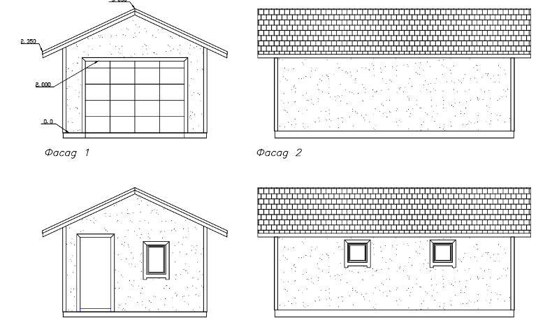 Проект каркасного гаража на 27 м2