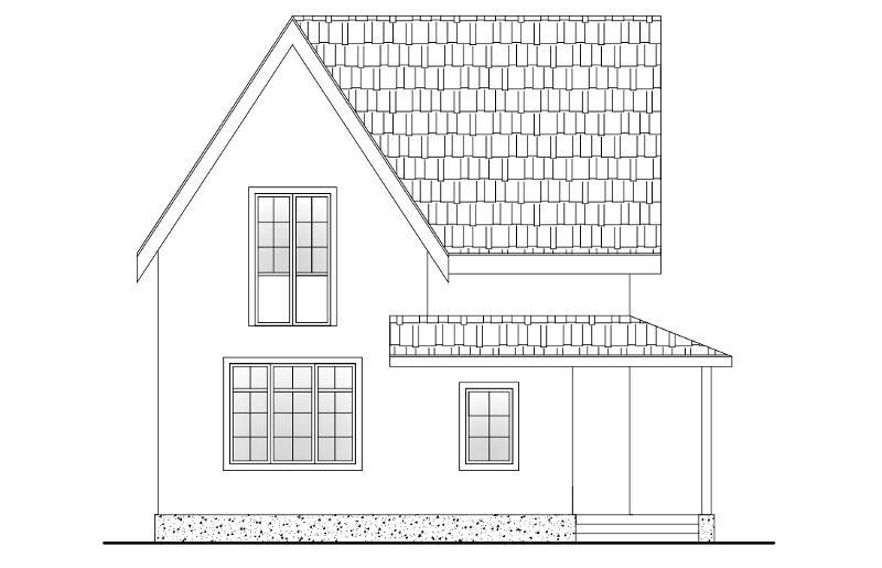 Проект простого дома на 130 м2 из трехслойных панелей с мансардой