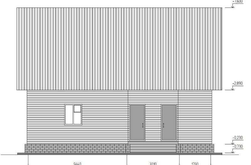 Проект простого маленького каркасно-щитового дома на 94,8 м2